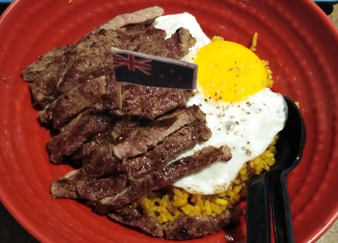 Steak and Egg Rice Bowl by STONS