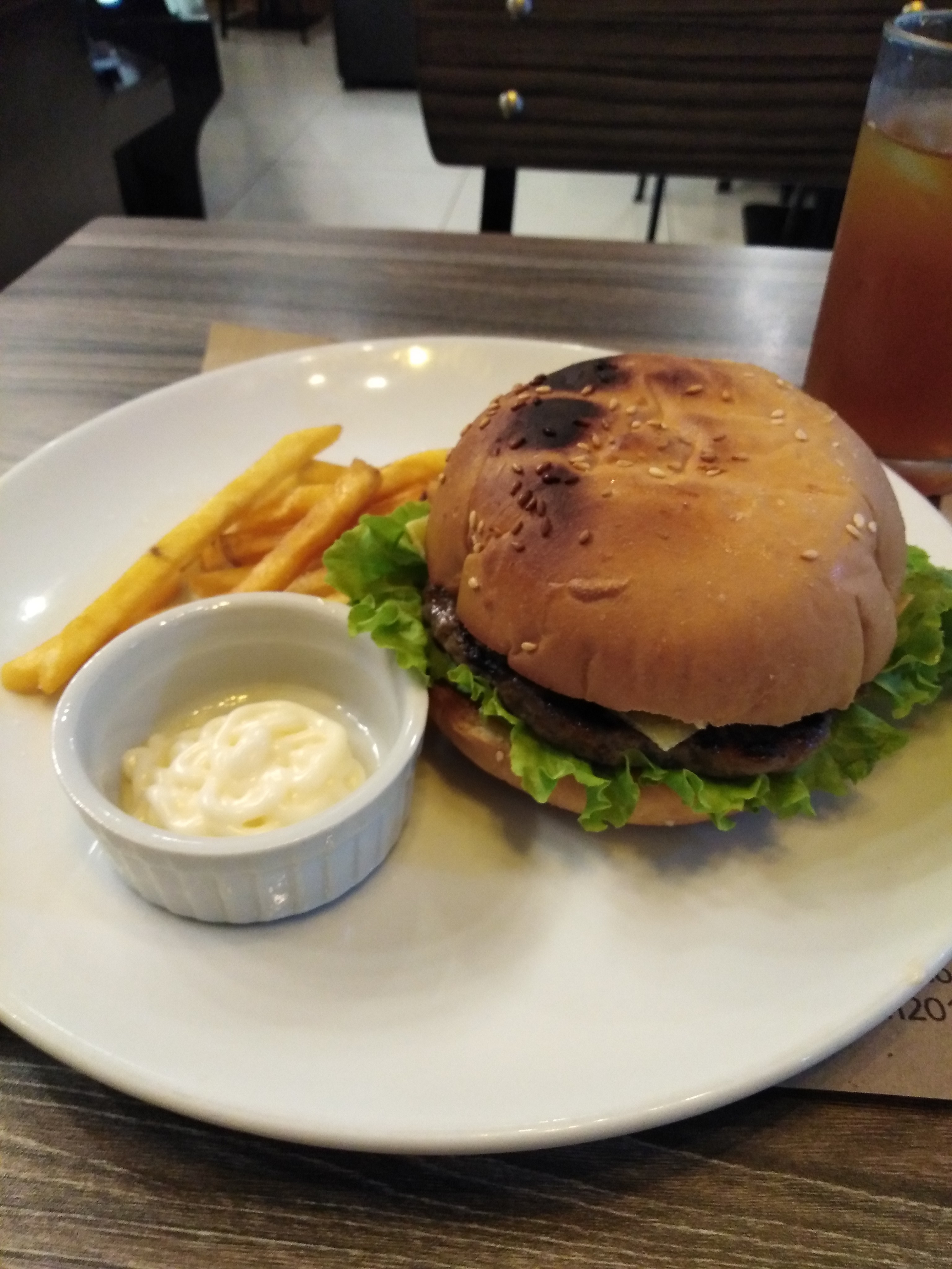 Burger and Fries Meal by Taza Mia Coffee